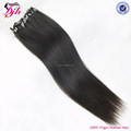 virgin remy indian hair weave micro ring silky straight