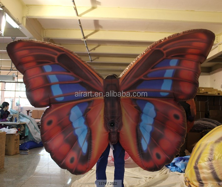 party performance decorative inflatable butterfly costume