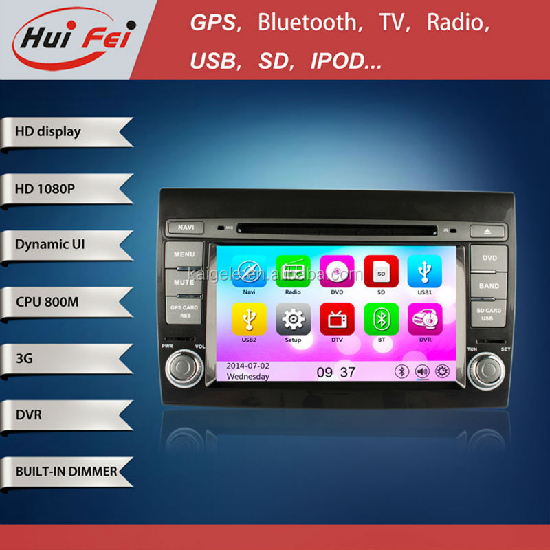 7 inch special Gps navigation for Fiat Bravo 2007-2012