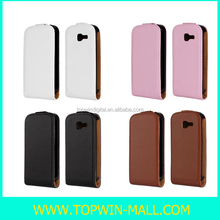 New Style!! Up-Down PU Leather Flip Case For Samsung Galaxy Trend Duos S7392