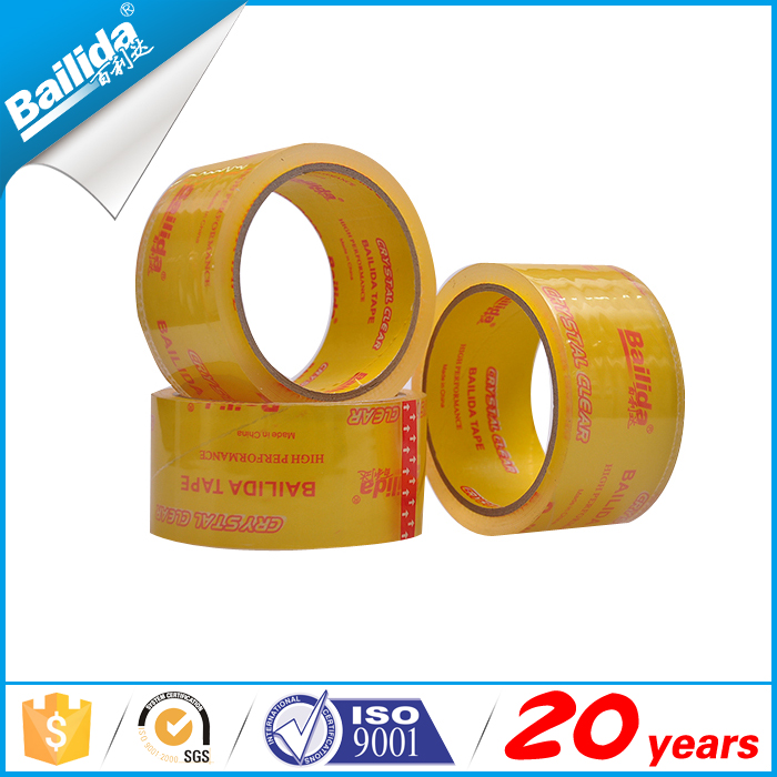 Ebay hot sale printed bopp super crystal vinyl waterproof tape for Iran market