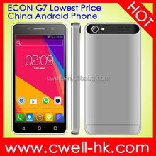 ECON G7 cheap android phones Dual SIM Quad band GSM celulares android