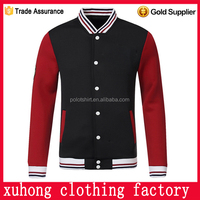 passion red black varsity custom made baseball jacket custom print