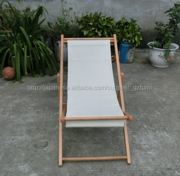 Guangzhou Hot Sale Foldable Wooden folding beach Chair