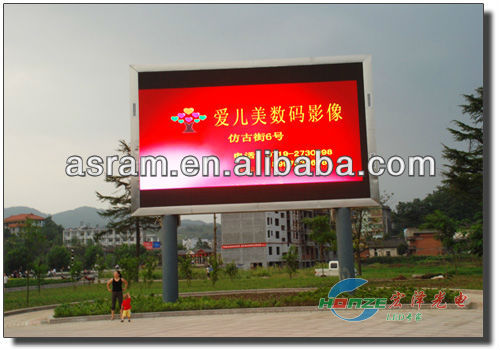 RJ45 or USB commuinate port P10 RGB full color programmable led panel outdoor advertising RGB full color P10 led display panel d