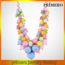 Multi-color Beads Chunky Necklace Sweet Candy Colored Beads Summer Plastic / Resin Necklace candy necklace