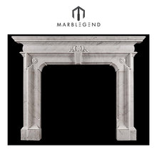 Top selling factory wholesale modern electric fireplace mantel white italian carrara marble