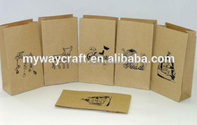 Eco-friendly kraft food paper bag for bread/candy/fruits