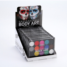 Free samples 15 colors face and body paint for kids non toxic art supplies with <strong>brush</strong>