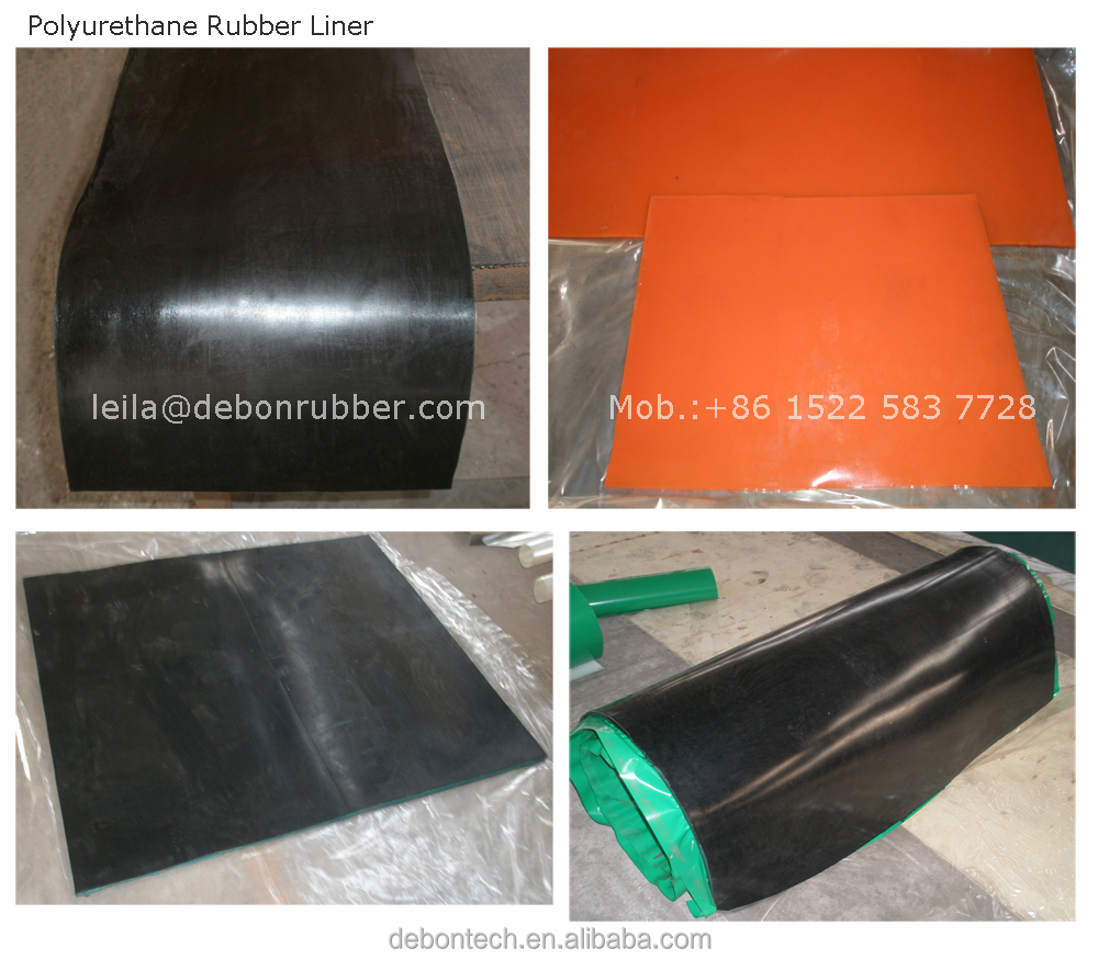 polyurethane rubber truck bed liner, urethane rubber lining for truck bed