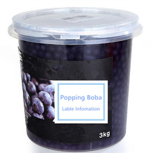 Blueberry Popping Boba OEM Taiwan Bubble Tea