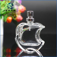 50ml luxury apple shaped empty perfume glass bottle refillable glass perfume bottle with mister sprayer