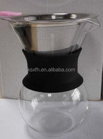 Made in China 200ml Hand Made Clear Glass Manual Coffee Drip Kettle Coffee Maker