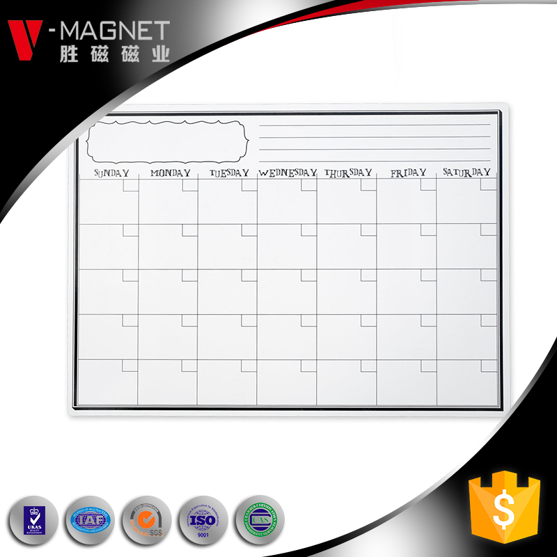 Factory supply pet dry erase magnet whiteboard