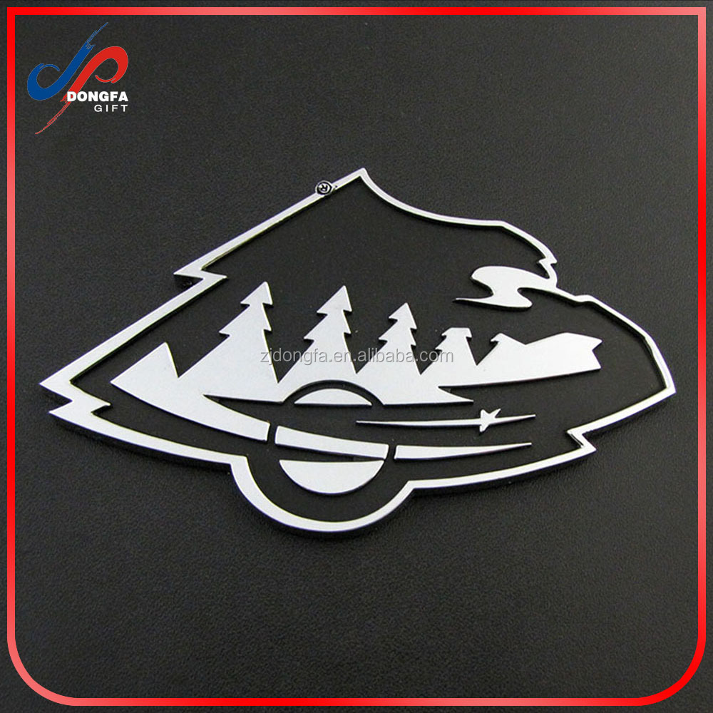 Car Club Custom Logo Metal Car Emblem For Premium Member with Bolts and Screws