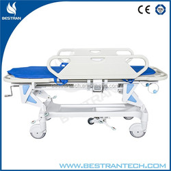BT-TR002 Cheap CE ISO 2 functions manual hospital adjustable stretcher trolley
