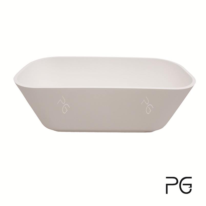 PG Natural composite stone solid surface bathtub Matte freestanding used bathtub