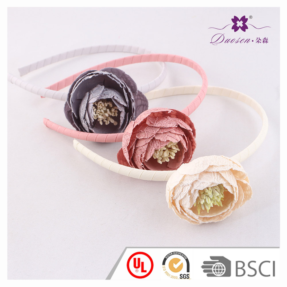 New arrival artificial flower ladies alice band flower hair bands