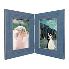 PS Foam Wooden Folding Picture Frame Double Photo Frame