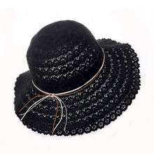 Fashion accessories sexy girls cap black colors drinking straw Hat