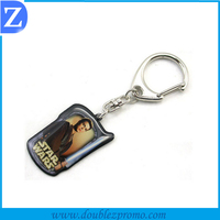 metal tag keychain with epoxy resin