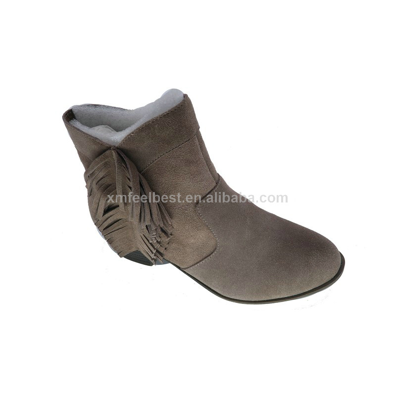 New style high quality black patent PU winter boots for women cheap price for sale