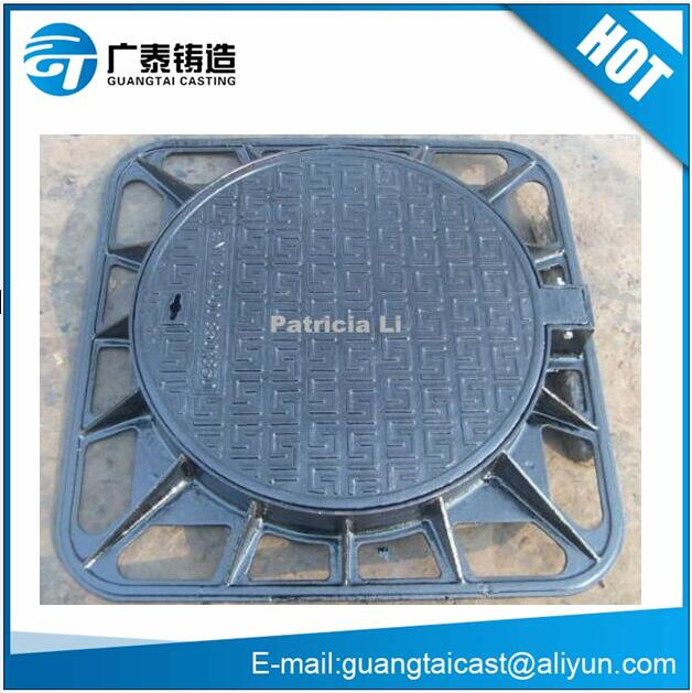 En124 Iron casting manhole cover and frame