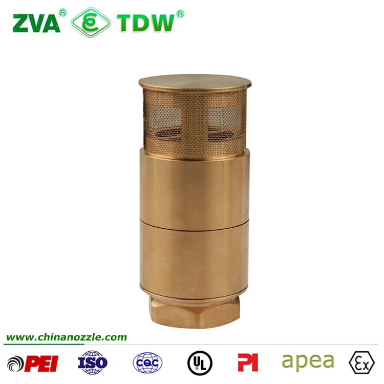 TDW Brass Foot Check Valve For Fuel Dispenser Transfer Pipe