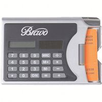 useful 2 In 1 Solar Calculator Business Card Holder with Pen