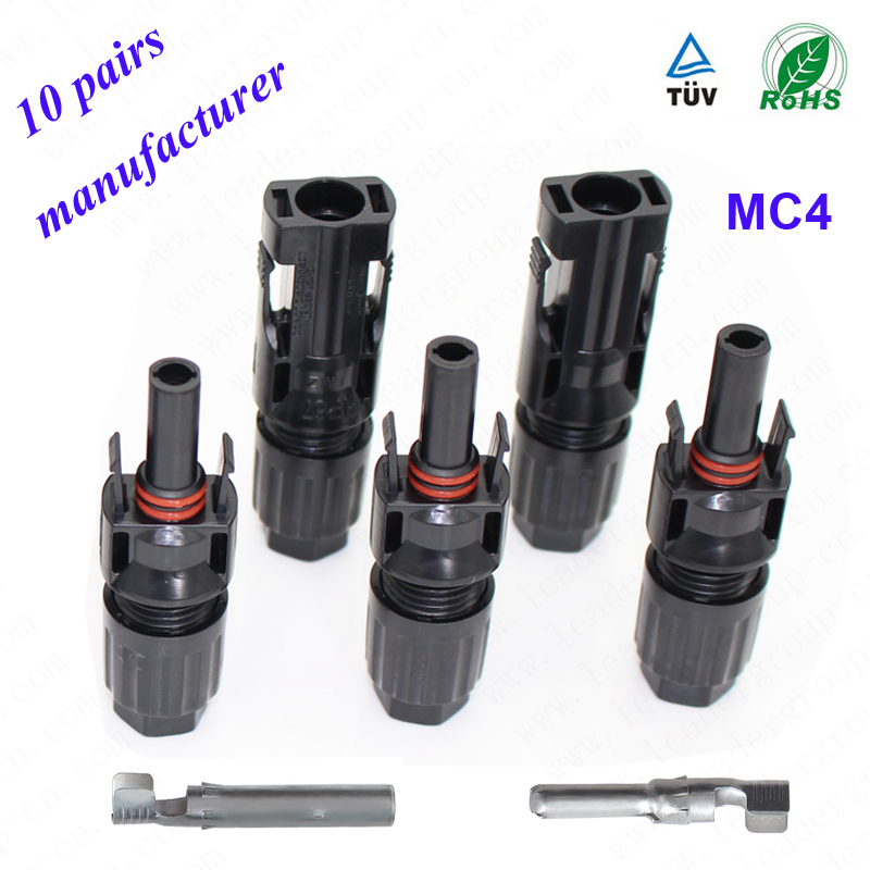 <strong>10</strong> pairs IP67 MC4 Solar Adapter Connector PV Cable Connector Connection with Double Seal Ring For Better Waterproof