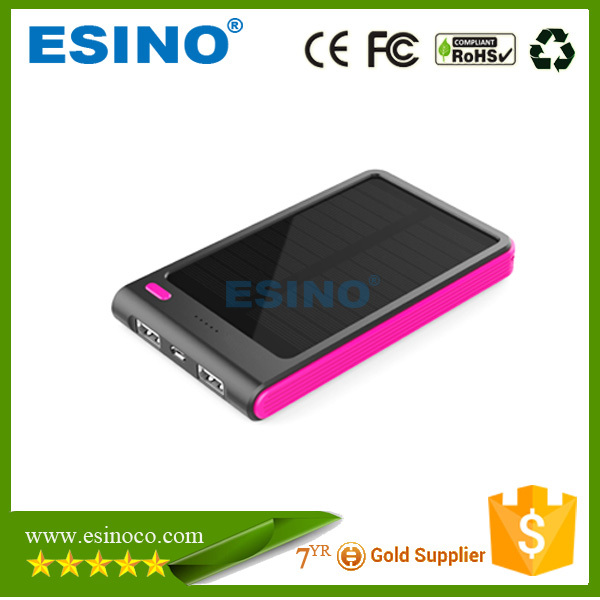 5000mAh innovation for cell phones and electronics kinetic energy batteries universal solar power bank for tablets /laptop