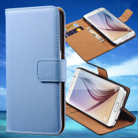 PU Leather Wallet Book Mobile Flip Cover for Samsung Galaxy S6 For Sale