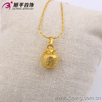 Apple jewelry for gift pendant designs 24k gold jewellery pendant necklace