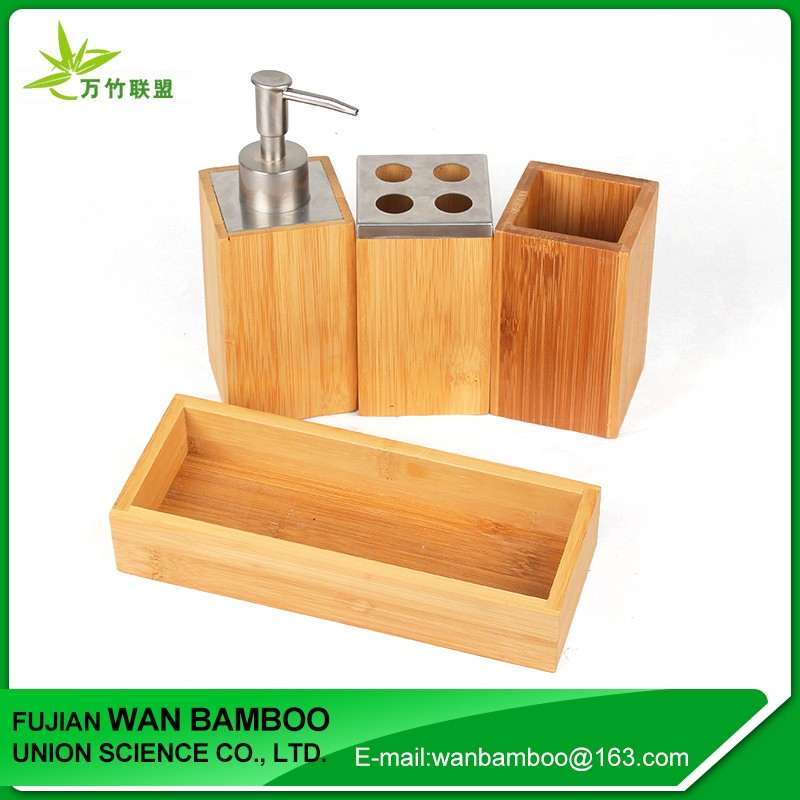 2017 Bamboo Toothbrush Holder for christmas bathroom set