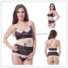 Hot new design two pieces set women's sleepwear