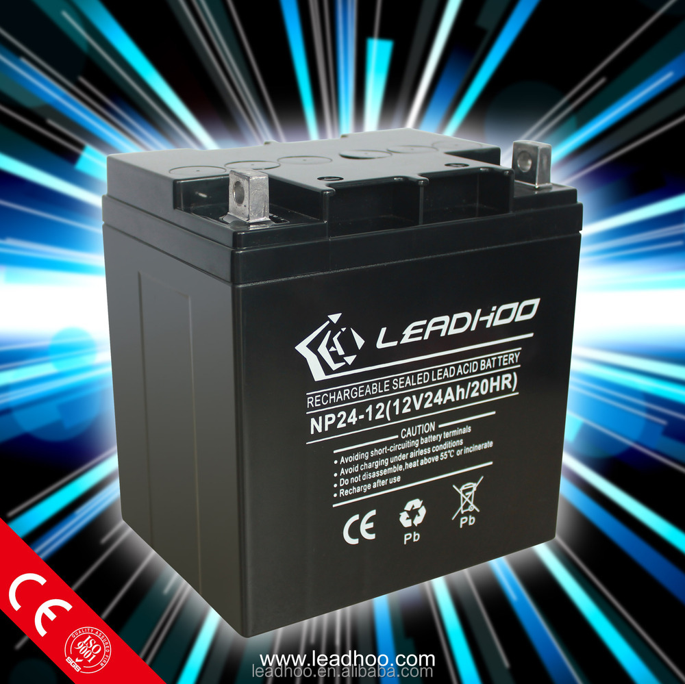 Valve regulated lead acid rechargeable battery 12V24AH Agm SLA MF battery