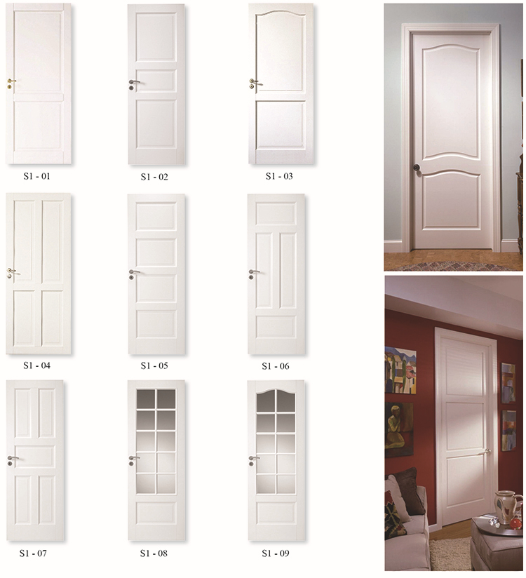 2 panel solid white painted interior doors white room for Wood doors painted white