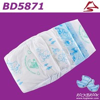Hot Sale Good Absorbtion Competitive Price Pink Disposable Diaper Manufacturer from China