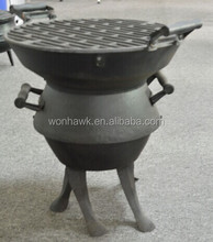 Cast Iron BBQ pits Barbecue Barbeque Pot Belly Barrel Charcoal Grill Garden Adjust UK