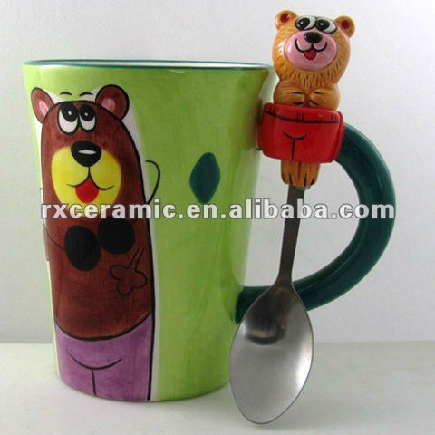 2010 V Ceramic Animal Shap Think Mug - Bear