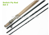 High quality with Toray blank double handle switch fly rod fly fishing rod
