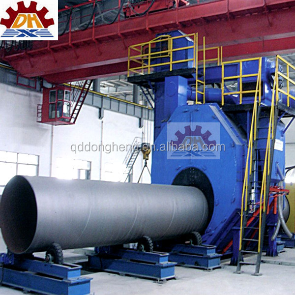 Lead technology internal steel pipe shot blasting machine Namely internal steel tube shot blasting machine CE, ISO9001
