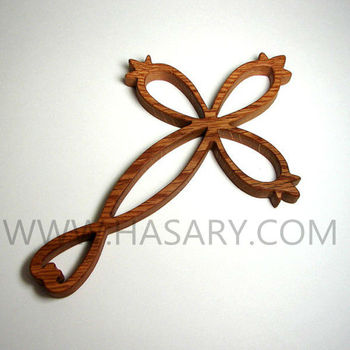 Wood Cross Pendant - Wood Cross Necklace
