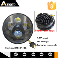 proffessional 5.75inch round led driving light headlight for harley sport motorcycle