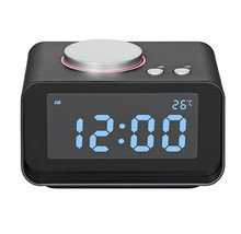 Multi-function speaker FM radio alarm clock indoor thermometer MP3 player with dual USB