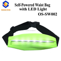 Batteryless self-powered Outdoor adjustable super bright sport led running waist belt