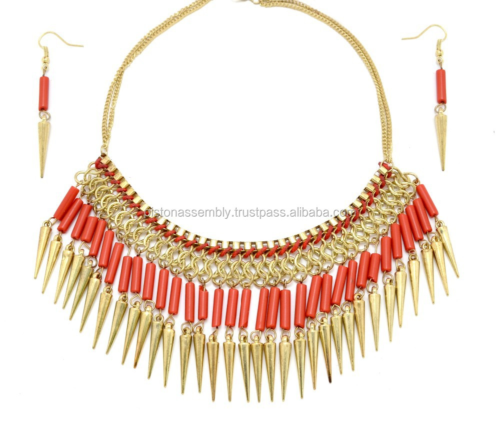 Red and golden necklace