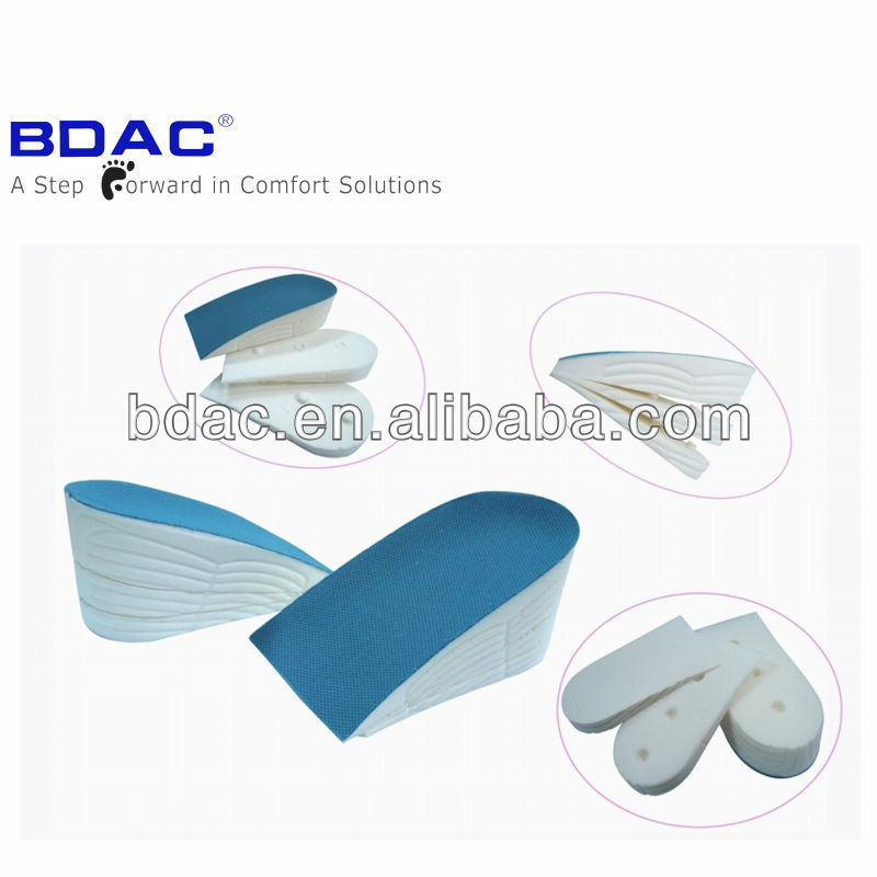 pu air cushion height increase shoe insole