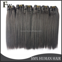 Most fashionable style yaki straight hair weft,100% indian human hair