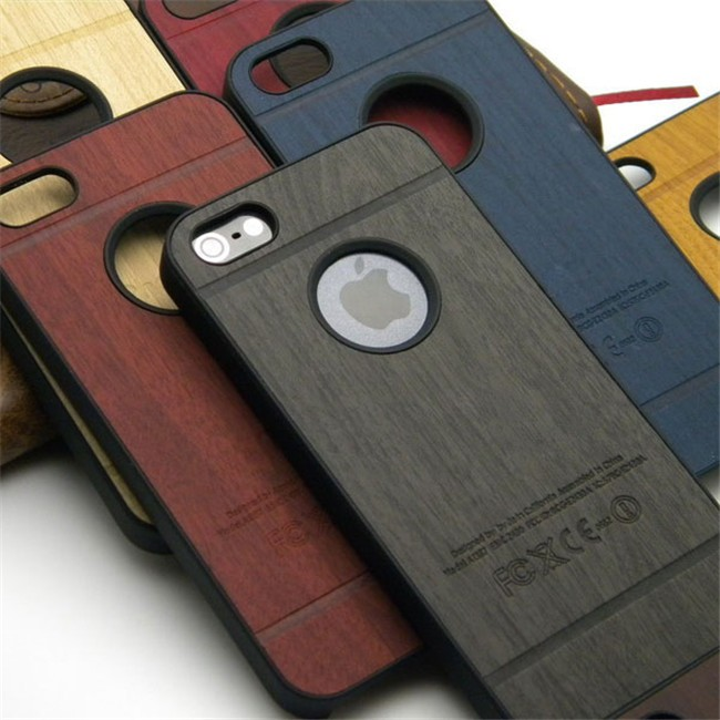 2016 Luxury Hard Plastic Wood Wooden Back Cover Phone Case for iPhone 5/6/7